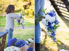 Delft Blue Wedding Ideas Blue Bridal Bouquet http://www.realsimplephotography.net/