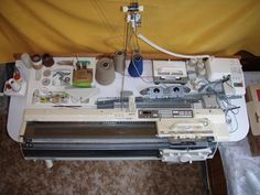 knitting machine table top