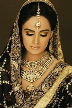 Black Saree bride