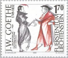 Faust and Mephisto, Part 2. If you look closely, Faust resembles Goethe.
