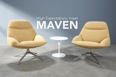 ma•ven (māven/) an expert or connoisseur.  High expectations, meet Maven. This open and inviting chair makes a bold statement within a space. Designed by Studio Hannes Wettstein, Maven is the perfect interpretaton of strong, feminine form. Visit www.hightoweraccess.com for more of Maven!