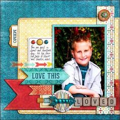 layout idea - i like the teal yellow and red and think good for school 5x7 photo