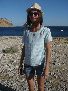Angèle Couture- Une plume sinon rien: Le pleated t-shirt sinon rien!