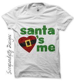 Santa Iron on Transfer  Iron on Christmas por ScrapendipityDesigns, $2,50