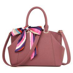 Women bags 2017 Scarf Bow Clip Hobos Designer women's handbags Top-handle shoulder Bags For Women Fashion Leather Tote Bag S0118