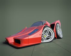 New Holtoons, Enzo Ferrari edition rendered in KeyShot by Chad Holton.