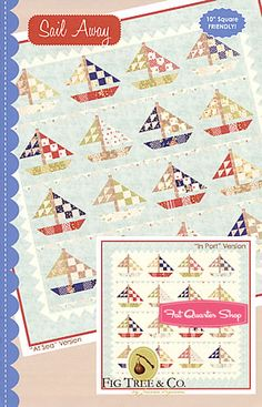 Sail Away Quilt Pattern Fig Tree Quilts - #FQSgiftguide