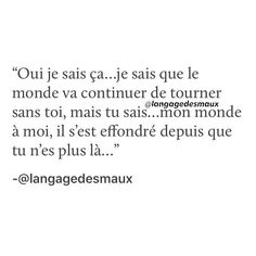 Never Love Again, Love You, Quotes Francais, French Words, Phrases, Bad Mood, Vide, Some Words, Wallpaper Quotes