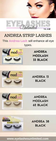 1428a5b7f23 This Andrea Strip Lashes will enhance all eye types. #Eye #EyeLashes #Andrea