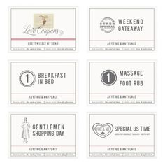 valentine's day coupon book template for boyfriend
