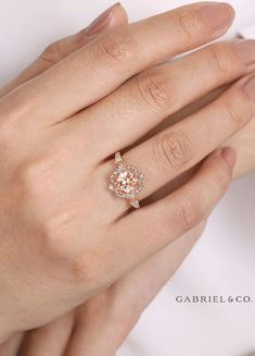 24 Gabriel & Co Engagement Rings Extraordinaire ❤ gabriel co engagement rings vintage engagement rings rose gold engagement rings floral rings gabrielandco Floral Engagement Ring, Vintage Engagement Rings, Vintage Rings, Diamond Engagement Rings, Morganite Engagement, Unique Vintage, Unique Art, Gabriel, Gold Solitaire Ring