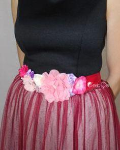 Alissa Crimson Red Floral Sash (assorted colors) - C'est Ça New York