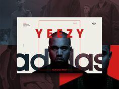 Adidas Yeezy Microsite on Web Design Served Website Design Layout, Graphic Design Layouts, Website Design Inspiration, Web Layout, Graphic Design Inspiration, Layout Design, Graphic Art, Design Ideas, Typographic Design