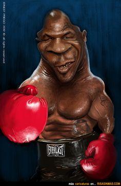 Caricatura de Mike Tyson.