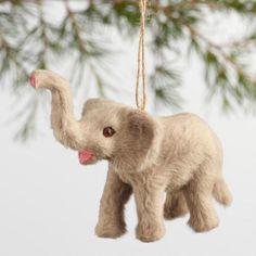 One of my favorite discoveries at WorldMarket.com: Fabric Safari Animal Ornaments Set of 3
