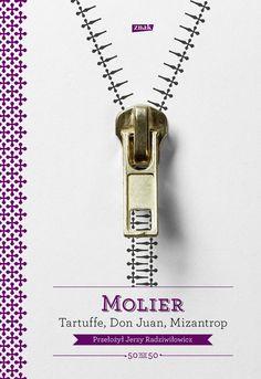 Book cover for Molière's plays - Tartuffe, Don Juan, The Misanthrope Design: Kuba Sowiński