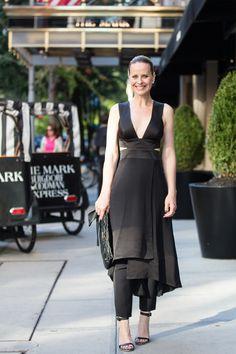 Look NYFW - Verão 2016 - Vestido e Calça Tufi Duek Bolsa Prada e sandália Givenchy