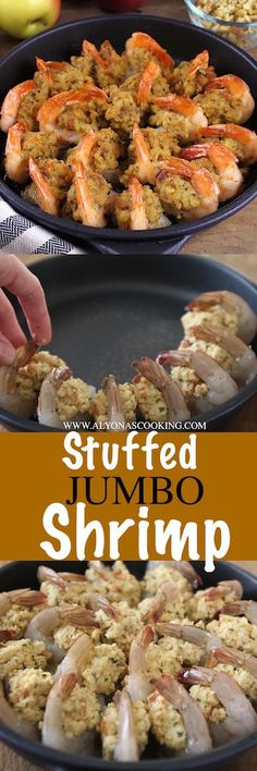 Easy Stuffed Jumbo Shrimp (with Step-by-Step Photos) Stuffed Baked Jumbo Shrimp are so easy to prepare and taste incredibly delicious! Fish Recipes, Seafood Recipes, Appetizer Recipes, Great Recipes, Cooking Recipes, Seafood Appetizers, Recipies, Party Appetizers, Laos Recipes