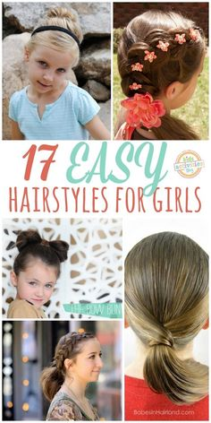 Love these fun and easy girl hair styles!