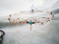 Elven /Celtic /wedding Circlet Arra to order by NeehellinsRealm, $30.00