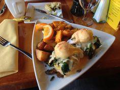 Breakfast in Portland Portland, Eggs, Spaces, Meat, Chicken, Breakfast, Food, Morning Coffee, Egg