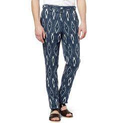 Burberry ProrsumIkat-Print Cotton and Linen-Blend Trousers|MR PORTER