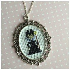 Disney cross stitch necklaces villains by BuckleberryFerry