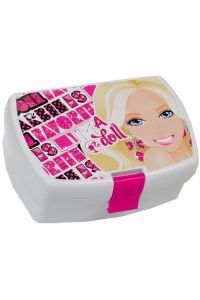 Barbie madkasse med dit navn på?