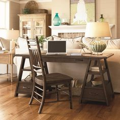 A farm table styled desk made out of PALLET boards - by Funky Junk Interiors >> Another idea for when we redo the office! Description from pinterest.com. I searched for this on bing.com/images