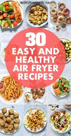 Looking for Healthy Air Fryer Recipes that are tasty, quick & easy to make? Each of the air fryer recipes for beginners in this collection are under 425 kcal, with most less than 350 kcal! But you'd never know it, since these easy air fried recipes are SO delicious. Includes recipes for dinner, snacks, for kids, chicken and more, Eating healthy has never tasted so good! #airfryer #airfryerrecipes #healthyrecipes #easyairfryerrecipes #wwrecipes #airfryrecipes #airfriedfood #airfry #air-fryer Air Fryer Recipes Vegan, Air Fryer Dinner Recipes, Air Fryer Healthy, Lunch Recipes, Healthy Recipes, Healthy Meal Prep, Eating Healthy, Healthy Dinners, Air Fryer Recipes Weight Watchers