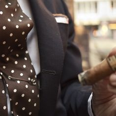 dotted brown tie