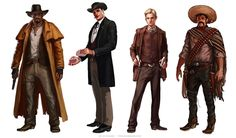 Western Characters, Javier Charro on ArtStation at https://www.artstation.com/artwork/Oomlg