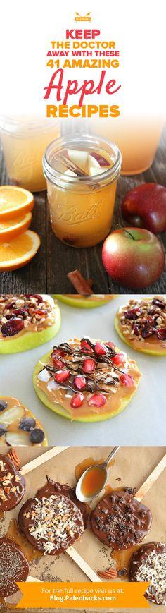 An apple a day keeps the doctor away, and these delicious apple recipes make it easy to get your daily serving in! Free Paleo Recipes, Apple Recipes, Chef Recipes, Holiday Recipes, Paleo Fruit, Paleo Diet, Paleo Sweets, Paleo Pumpkin Pie, Delicious Desserts