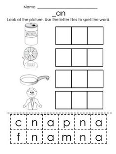 ... activities on Pinterest | Word Families, Worksheets and Rhyming Words