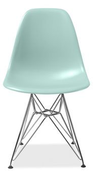 Eames® Molded Plastic Side Chair with Wire Base in Aqua Sky by Herman Miller  $249