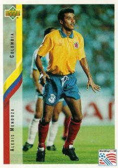 Alexis Mendoza of Colombia. 1994 World Cup Finals card.