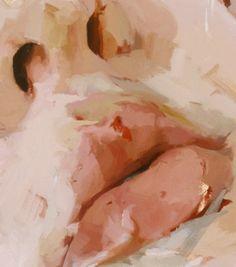 nezart design (Jenny Saville - Hyphen (detail) - rough thick layers of pants and contrasting tones. Painting Inspiration, Art Inspo, A Level Art, Art Et Illustration, Illustrations, Aesthetic Art, Cream Aesthetic, Painting & Drawing, Mouth Painting