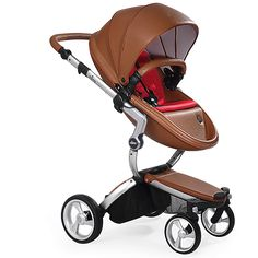 Mima Xari - Camel Seat, Ruby Red Starter Pack | The only stroller made with leatherette fabric, the Mima Xari is more than a pretty face. With a chic design and advanced features, this highly-customizable stroller strikes the perfect balance of fashion and functionality.