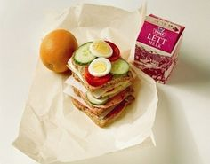Meals - Norwegians have 4 meals: breakfast, lunch (depicted), dinner and evening-food. The latter being a slice of bread with something on top of it.