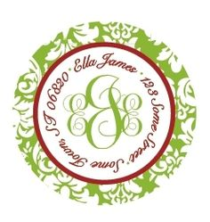 """Monogram Christmas Gift Tags/Address Labels - 2"""" Damask (Set of 40) -  Say good-bye to boring envelopes. These labels are just like Zatarian's - they will jazz it up!"""
