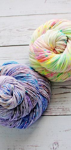 Oh, the speckles! These are Comet +  Midnight in Paris from Yarn Love. Must.Have.