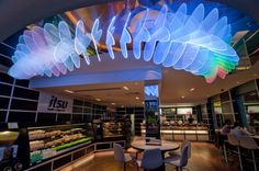 Butterfly In Flight | Cinimod Studio Ltd Cinimod Studio was commissioned by the Itsu restaurant group to create a bespoke lighting feature for their restaurants