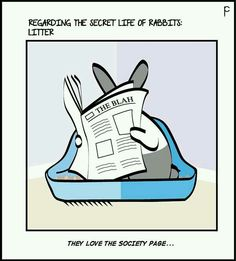 Meanwhile, your bunny in the toilet is reading the current social page column.