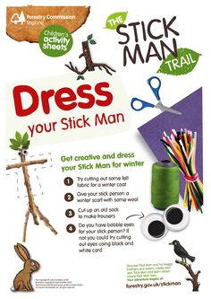 Stick Man activity sheets for Wendover Woods (until 29 Jan Forest School Activities, Nature Activities, Learning Activities, Activities For Kids, Gruffalo Activities, Outdoor Classroom, Outdoor School, Verona, Julia Donaldson Books