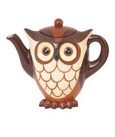 Brown Owl Teapot