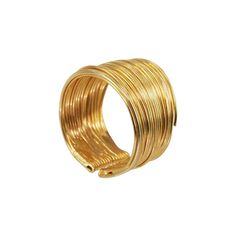 """""""Coiled"""" 18K Yellow Gold Wire Wrapped Ring - Plukka - Shop Fine Jewelry Online"""