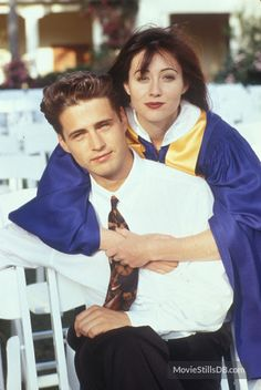 """Beverly Hills, 90210"" Jason Priestley and Shannen Doherty"