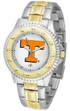 Tennessee Volunteers Vols UT Men's Two Tone Dress Watch SunTime. $86.95. Links Make Watch Adjustable. Officially Licensed Tennessee Vols Men's Two Tone Dress Watch. Two-Tone Stainless Steel. Men. Gold Ion-Plated Bezel-Date Function
