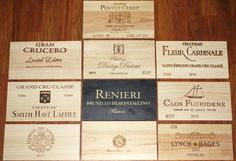10 Wine Crate Panels from Premier Vineyards (Perfect for Small Walls or Tables)