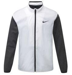 856e8d695f13 Nike Shield Golf Jacket Full Zip White Charcoal 726401-100 Mens  Nikegolf  Golf